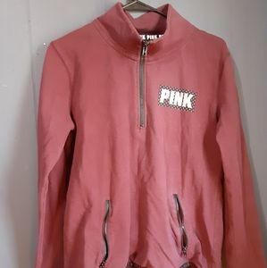 PINK pullover half zip